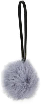 Furla Nuvola Dyed Rabbit Fur Mini Pom Keychain