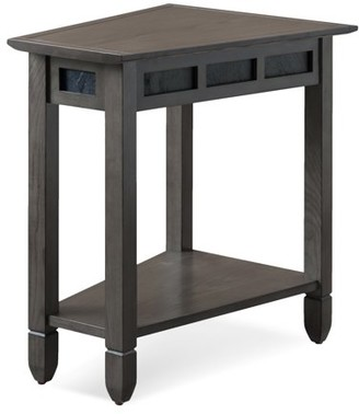 Leick Smoke Grey Oak and Black Slate Recliner Wedge Table