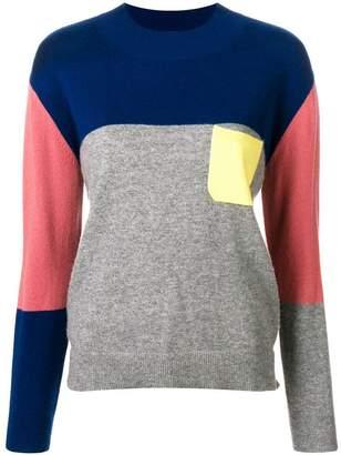 Parker Chinti & cashmere colour block sweater