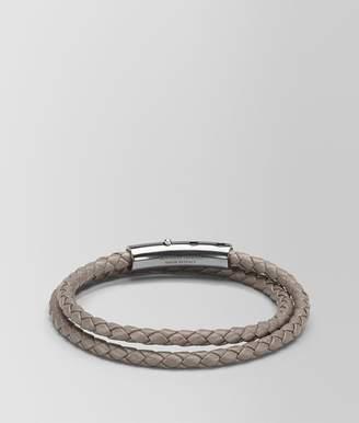 Bottega Veneta Denim Intrecciato Nappa And Silver Bracelet