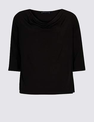Marks and Spencer CURVE Cowl Neck 3/4 Sleeve Top