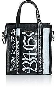 ... Balenciaga Women s Arena Leather Bazar Extra-Small Shopper Tote Bag -  Black 744f9b9569b9f