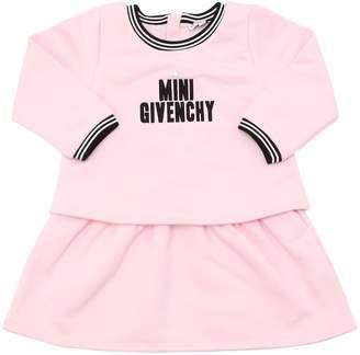 Givenchy Logo Embroidered Cotton Sweatshirt Dress