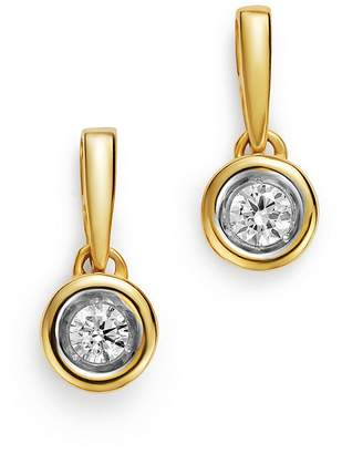 Bloomingdale's Diamond Bezel Set Drop Earrings in 14K Yellow Gold, 0.20 ct. t.w. - 100% Exclusive
