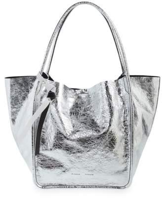 Proenza Schouler L -Super Glass Metallic Leather Tote
