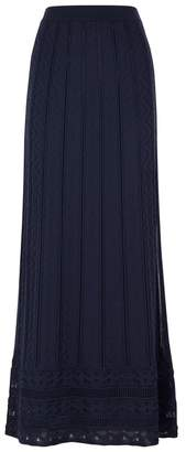M Missoni Zigzag-knit Wool-blend Maxi Skirt