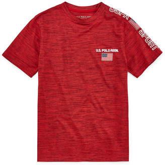 U.S. Polo Assn. USPA Boys Crew Neck Short Sleeve Graphic T-Shirt - Big Kid