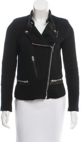 IROIro Wool Leather-Trimmed Jacket