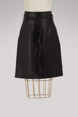 Vanessa Bruno Isko leather skirt
