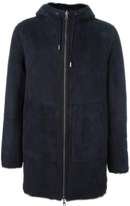 Desa 1972 hooded leather coat
