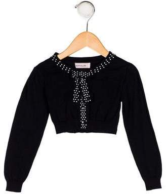 MonnaLisa Girls' Crop Embellished Cardigan