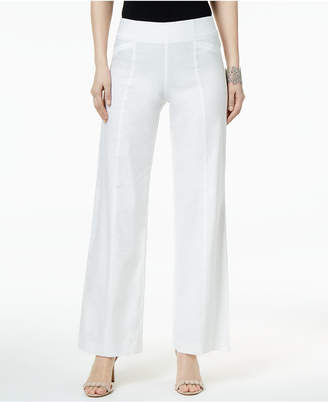 INC International Concepts I.N.C. Linen-Blend Wide-Leg Pants, Created for Macy's
