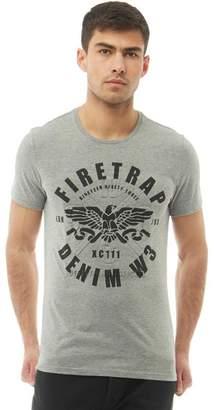 Firetrap Mens Rouen T-Shirt Grey Marl