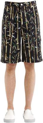 Kenzo Bamboo Printed Cotton Shorts