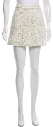 Rachel Zoe Metallic-Accented Mini Skirt