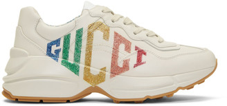 Gucci Ivory Rhyton Rainbow Glitter Sneakers
