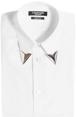 Calvin Klein Cotton Shirt with Collar Tips