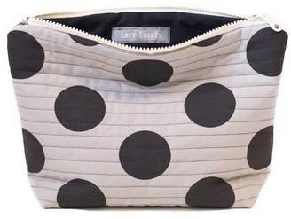 Lucy Engels Large Makeup Bag Big Spot Grey
