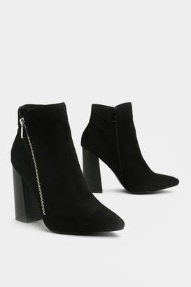 Nasty Gal Couldn't Flare Less Heeled Boot