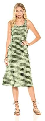 Peace Love Maxi Women's Horizontal Water Ripple and White Stripe Dress