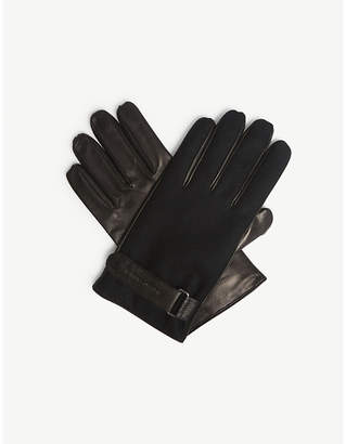 Emporio Armani Leather and wool gloves
