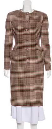 Carolyn Rowan Patterned Wool Coat w/ Tags