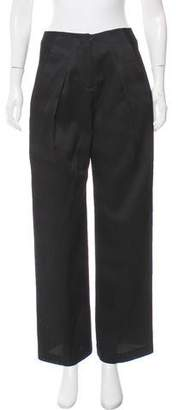 Zero Maria Cornejo Wool-Blend High-Rise Pants