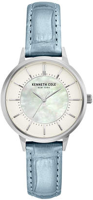 Kenneth Cole New York Ladie Leather Strap with Mother Of Pearl Dial, 32MM