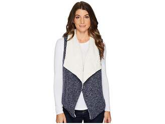 Mod-o-doc Corded Sweater Knit Reversible Vest Women's Vest