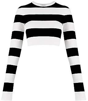 Marc Jacobs Women's Redux Grunge Plaited Stripe Crop Tee