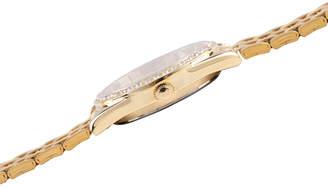 Disney Mickey Mouse Womens Gold Tone Bracelet Watch-Wds000698