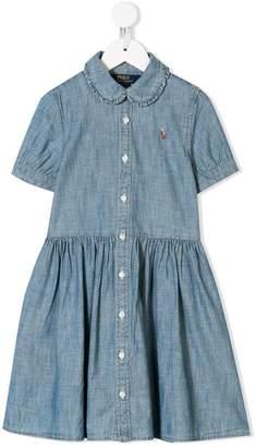 0d27bd28b01 Ralph Lauren Kids logo embroidered shirt dress