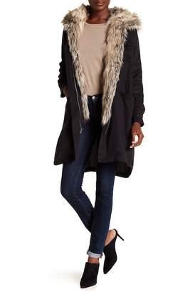 BB Dakota Walsh 3-in-1 Faux Fur Vest & Jacket w/ Hoodie