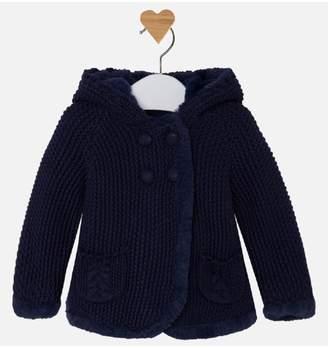 Mayoral Pompom Knit Cardigan