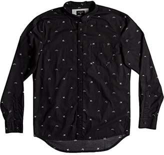 Quiksilver Men's Fuji Mini Motif Long Sleeve Button Down Shirt