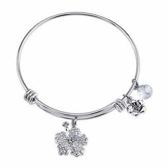 DISNEY Disney Womens Lilo & Stitch Silver Over Brass Charm Bracelet $60 thestylecure.com