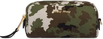 Miu Miu camouflage print faille zipped pouch