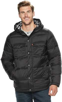 Levi's Levis Big & Tall Quilted Puffer Trucker Hybrid Jacket