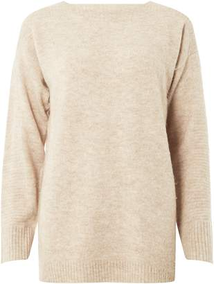 0a3980f6789ac6 Dorothy Perkins Womens Camel Wide Neck Jumper