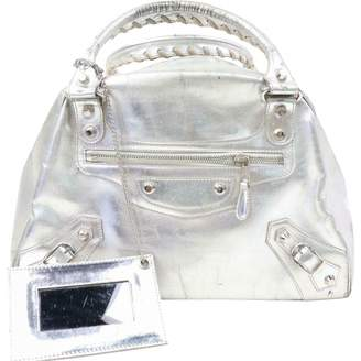 Balenciaga Silver Leather Handbags