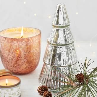 Sur La Table Figural Mercury Glass Christmas Tree Candle, 9.3 oz.