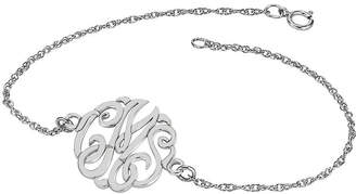JCPenney FINE JEWELRY Personalized Sterling Silver 20mm Monogram Script Bracelet