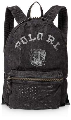Polo Ralph Lauren Bulldog Denim Backpack