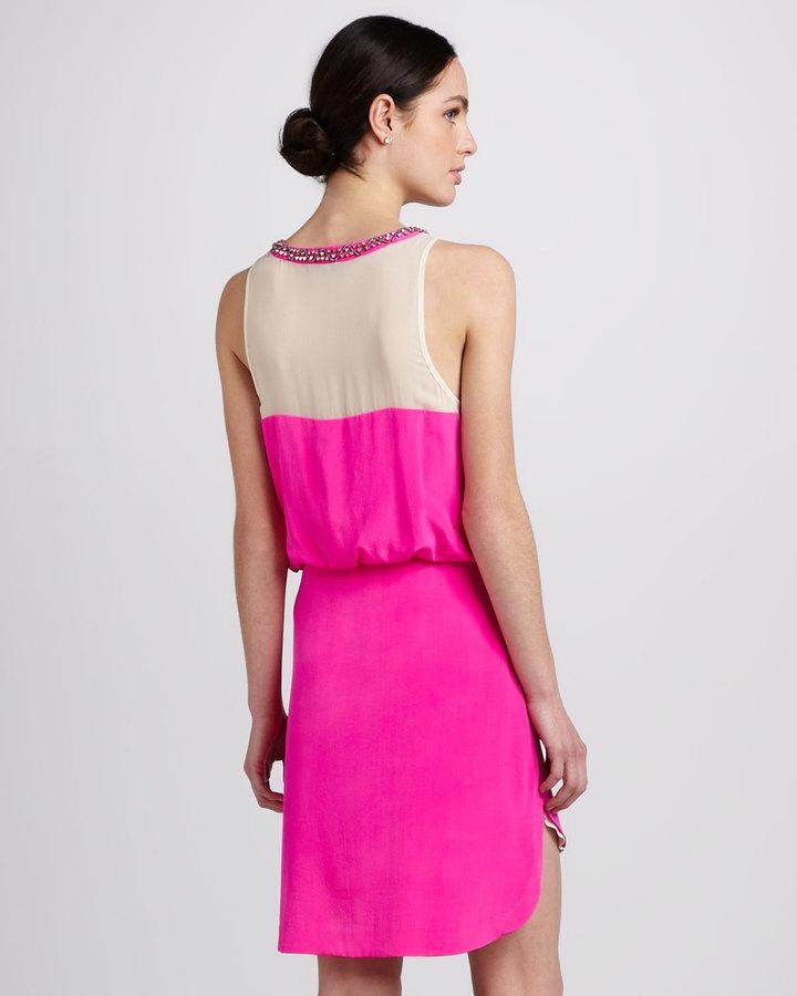Madison Marcus Neon Colorblock Dress