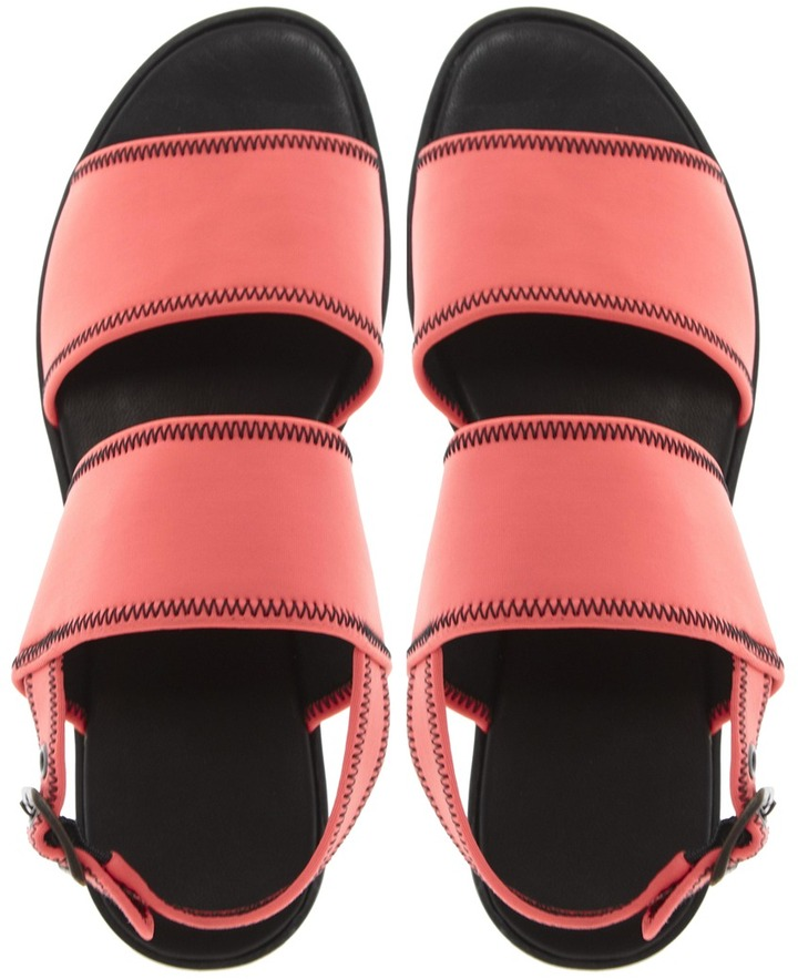 Vagabond Flora Coral Neoprene Slingback Sandals