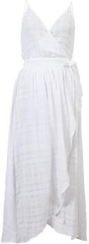 Seafolly White Dobby Stripe Wrap Beach Dress Tibetan Travel WHITE
