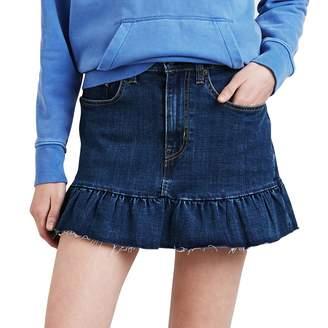 Levi's Levis Women's Ruffle Hem Denim Skirt