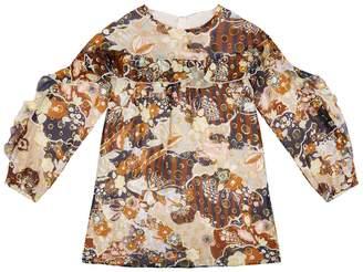 Chloé Floral Ruffle Dress
