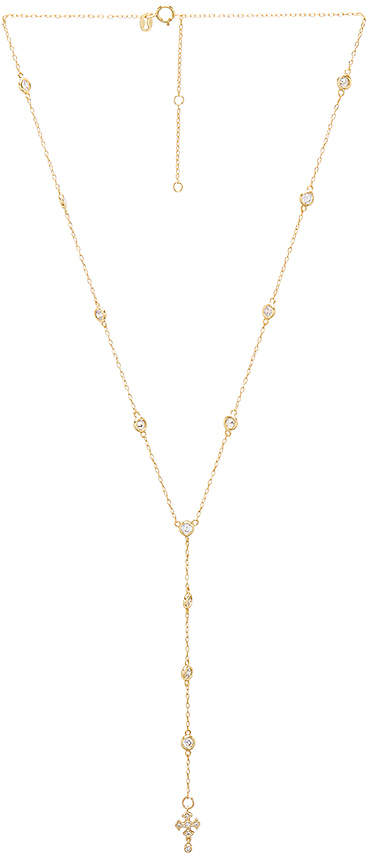 joolz by Martha Calvo Cross Bezel Lariat
