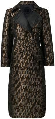Fendi FF motif trench coat